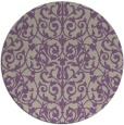 rug #282941 | round purple traditional rug