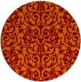 rug #282949 | round red-orange traditional rug