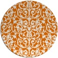rug #282953 | round orange traditional rug