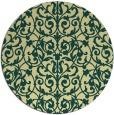 rug #282965   round yellow damask rug