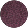 rug #282985 | round purple natural rug