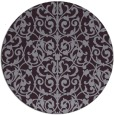 rug #282997 | round purple damask rug