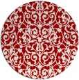 rug #283001 | round red traditional rug