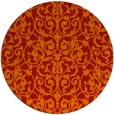 rug #283005 | round red natural rug