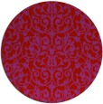 rug #283013 | round red damask rug