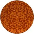 rug #283017 | round red-orange damask rug
