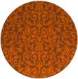 rug #283025 | round red-orange damask rug