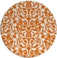 rug #283029   round red-orange rug