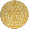 rug #283049 | round yellow damask rug