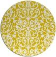 rug #283061 | round yellow damask rug