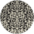 rug #283069 | round black traditional rug