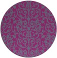 rug #283073   round damask rug