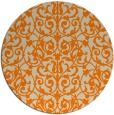 rug #283077 | round beige damask rug