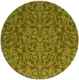 rug #283081 | round light-green damask rug