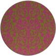 rug #283089 | round light-green natural rug
