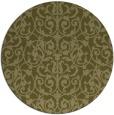 rug #283093 | round light-green damask rug
