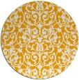 rug #283097 | round light-orange damask rug