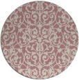 rug #283101   round pink traditional rug