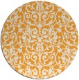 rug #283109 | round light-orange damask rug