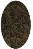 rug #283837   oval mid-brown natural rug