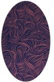 rug #283909 | oval blue-violet rug