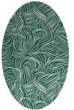 rug #283949 | oval blue-green natural rug