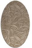rug #283969 | oval beige natural rug