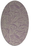 rug #283997   oval purple natural rug
