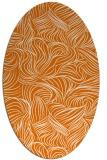 rug #284009   oval orange natural rug