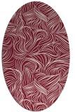 rug #284029 | oval pink natural rug