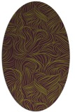 rug #284045 | oval purple natural rug