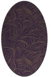 rug #284049 | oval mid-brown natural rug