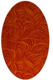 rug #284061   oval red natural rug