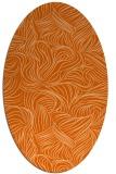 rug #284077 | oval red-orange natural rug