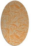 rug #284133 | oval orange rug