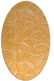 rug #284165 | oval light-orange natural rug