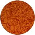 rug #284709 | round orange popular rug