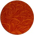 rug #284765 | round red natural rug
