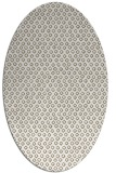 rug #289097 | oval beige animal rug