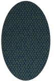 rug #289133 | oval blue animal rug