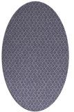 rug #289185 | oval blue-violet rug