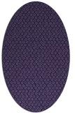 rug #289193 | oval blue-violet animal rug