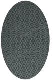 rug #289225   oval green animal rug
