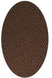 rug #289325 | oval green animal rug