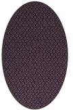 rug #289329 | oval purple animal rug