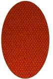 rug #289341 | oval red animal rug
