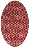 rug #289345 | oval red animal rug