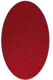 rug #289349 | oval red animal rug