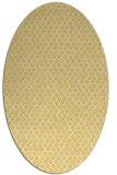 rug #289385 | oval yellow animal rug