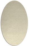 rug #289389 | oval yellow animal rug
